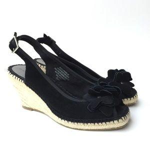 Bandolino Black Espadrilles, Size 8.5, EUC